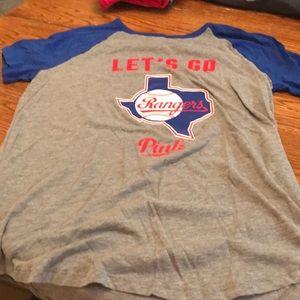 PINK Texas Rangers tee